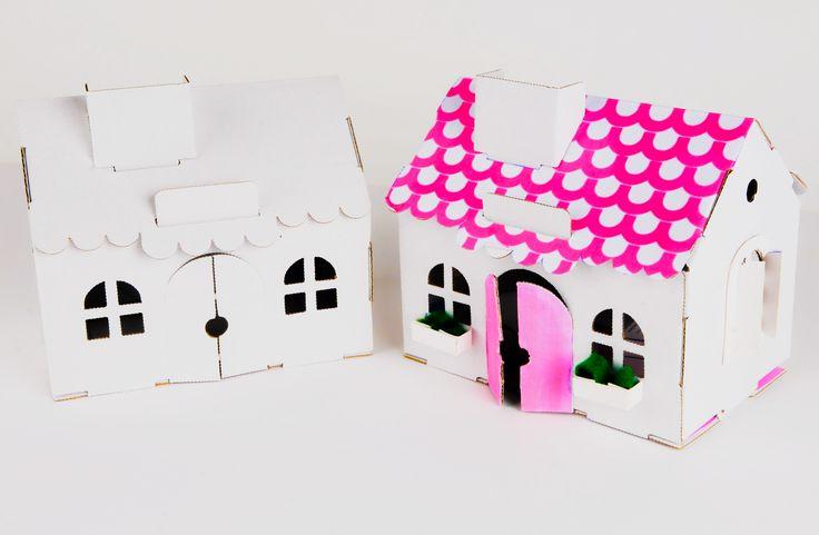 Cardboard House DIY Cardboard House for dolls Doll's cardboard House