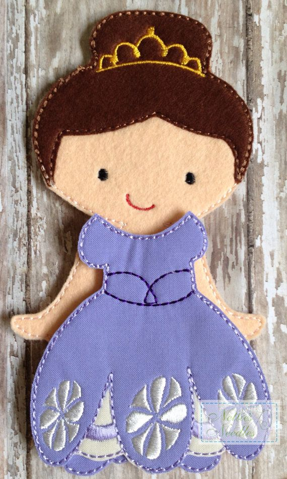 The 1st Princess Felt Doll Outfit by NettiesNeedlesToo on Etsy, $8.00...dress up doll in felt