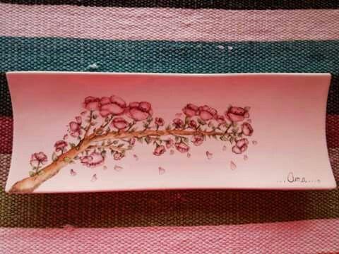 Plato sushi...Arbol de Cerezo