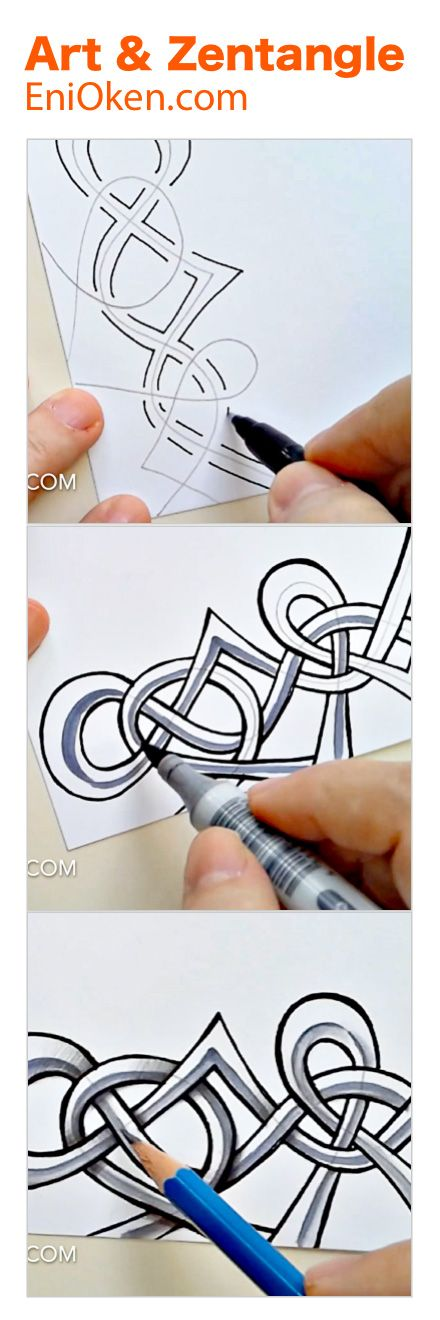 Knots and Zentangle®️ art • enioken.com
