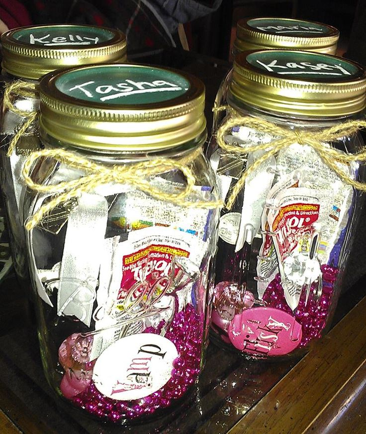 Goodie Mason Jars For Bachelorette Party Favors Fully Equipped With All The Essentials
