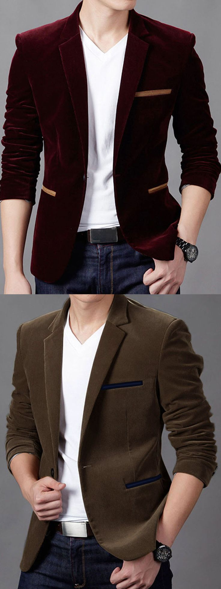 Smooth and oh-so-stylish, we're counting down the days 'til the British Style Casual Slim Fit Masculine Men's Fashion Brand Blazer is hanging in our closets!