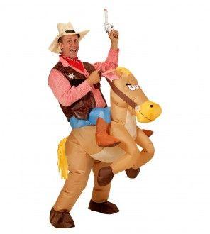 Opblaasbaar paard kostuum