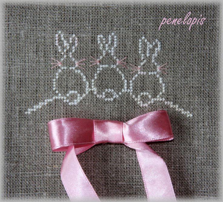 Penelopis' cross stitch freebies: bunny/kroliczek                                                                                                                                                                                 More
