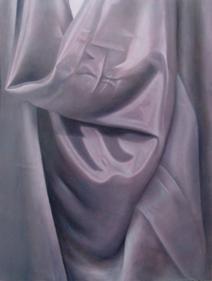 Satijn. Olieverfschilderij. Satin. Oil painting.
