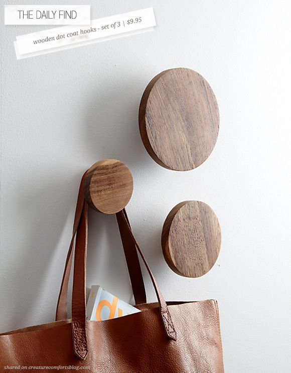 The Daily Find: Wooden Dot Coat Hooks