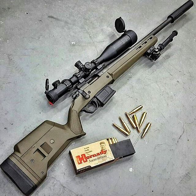 .308 Remington 700 in Magpul OD.