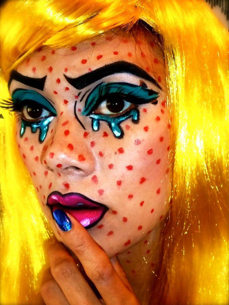 Comic Book Hairstyle Halloween Makeup
