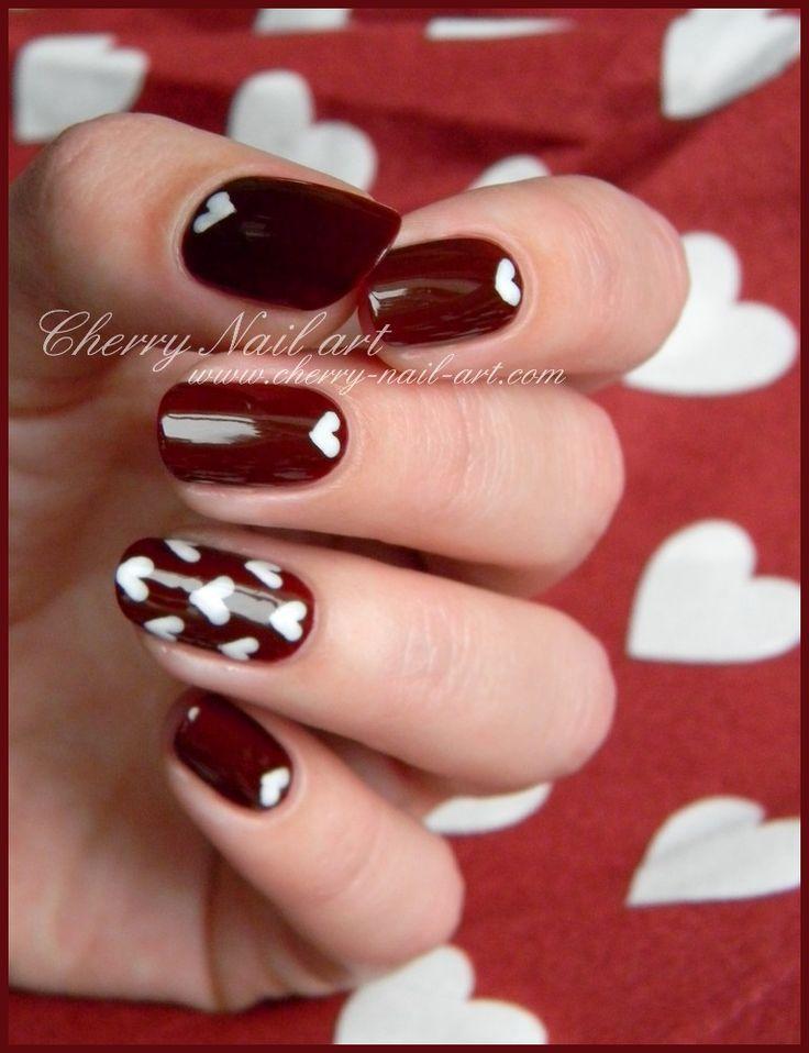 CHERRY NAIL ART valentine #nail #nails #nailart
