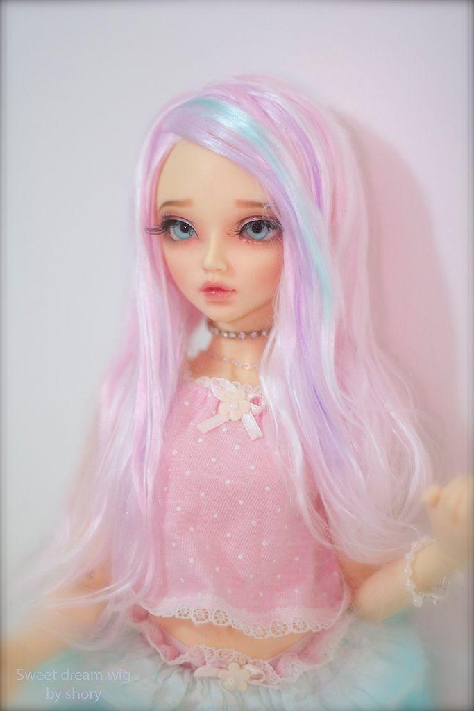 Homemade Wig In 2019 Bjd Realistic Dolls Bjd Dolls Cute Dolls