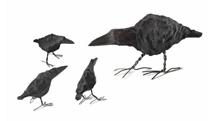 Täljd fågel stor Mikael Nilsson