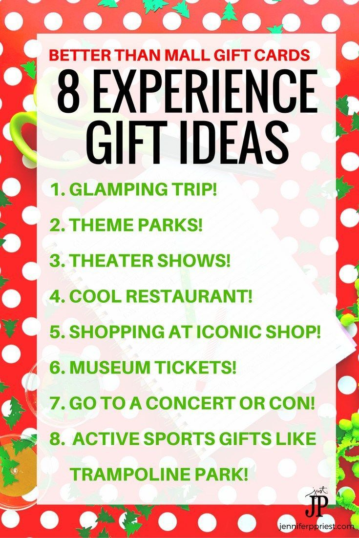 2020 Christmas Experience Gift Experience Gifts   8 Unique Gift Card and Christmas Gift Ideas in