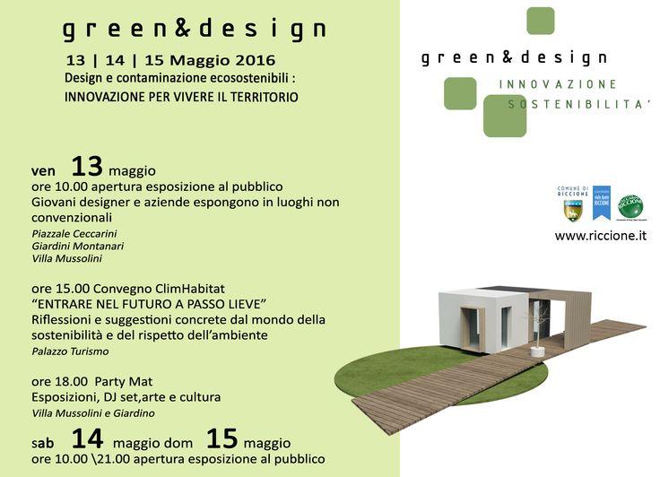 Green&Design. Riccione 13/15 maggio.