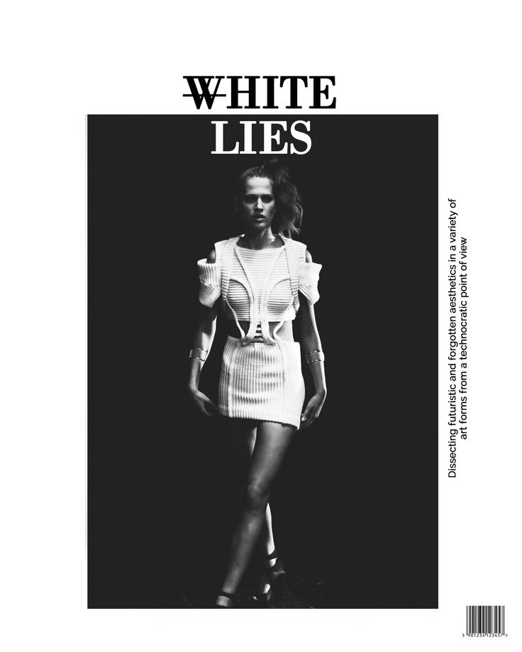 Stine Ladefoged SS15-look on the cover of White Lies digital Magazine