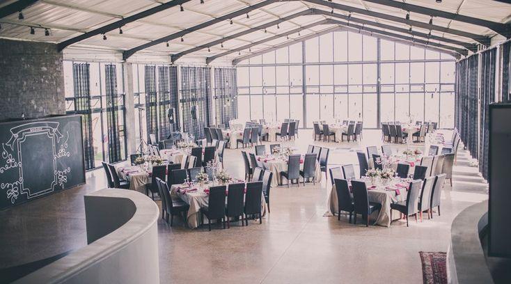 Stunning reception hall at Bakenhof Winelands wedding venue.