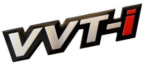 VVT-I Variable Valve Timing with intelligence Real Aluminum Engine Hood Emblem Badge Nameplate JDM for Toyota Corolla E12 Celica Supra GT-S MR2 Spyder Yaris Camry Echo Tundra Land Cruiser 4Runner Sola