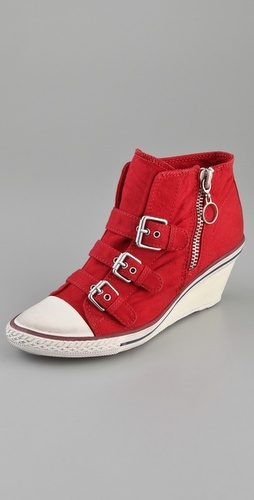 It seems odd to combine sneakers and wedges, but these are still pretty cool!