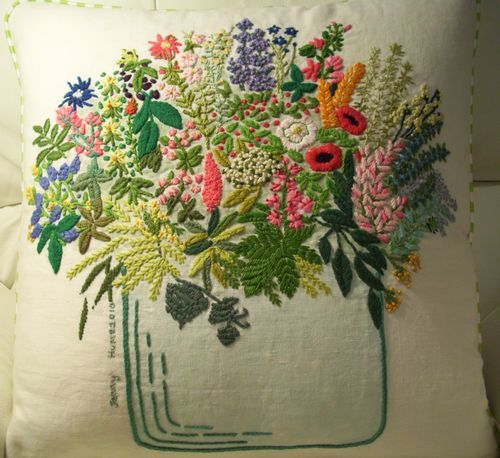 Best images about embroidery baskets vases on