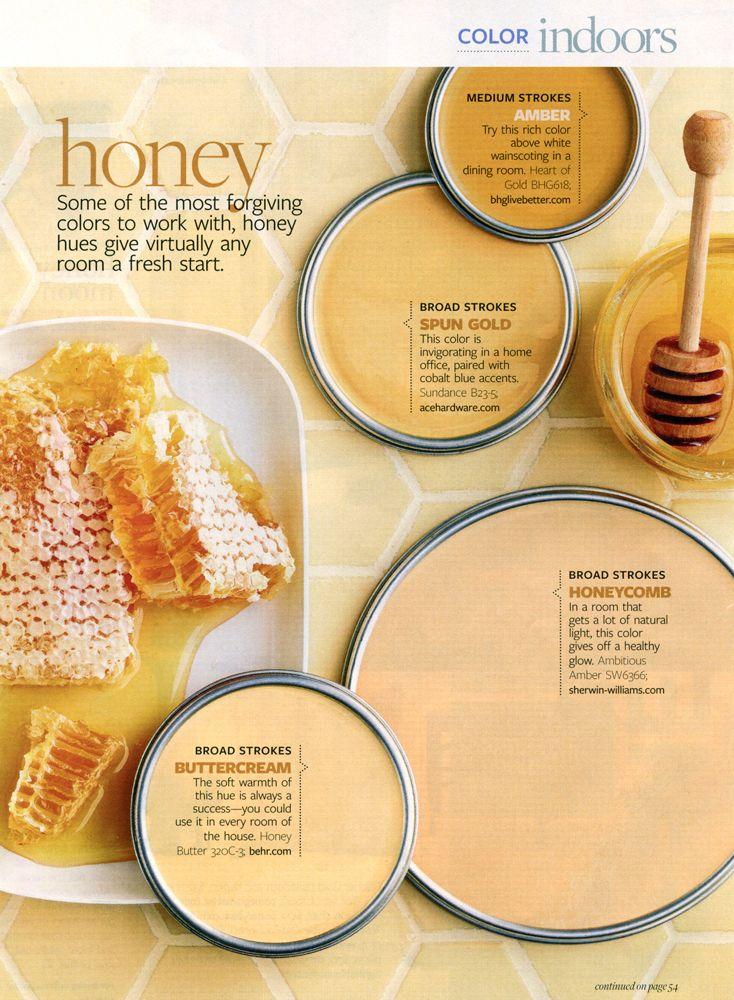 January 2010 Honey Better Homes Gardens Color Palette Amber