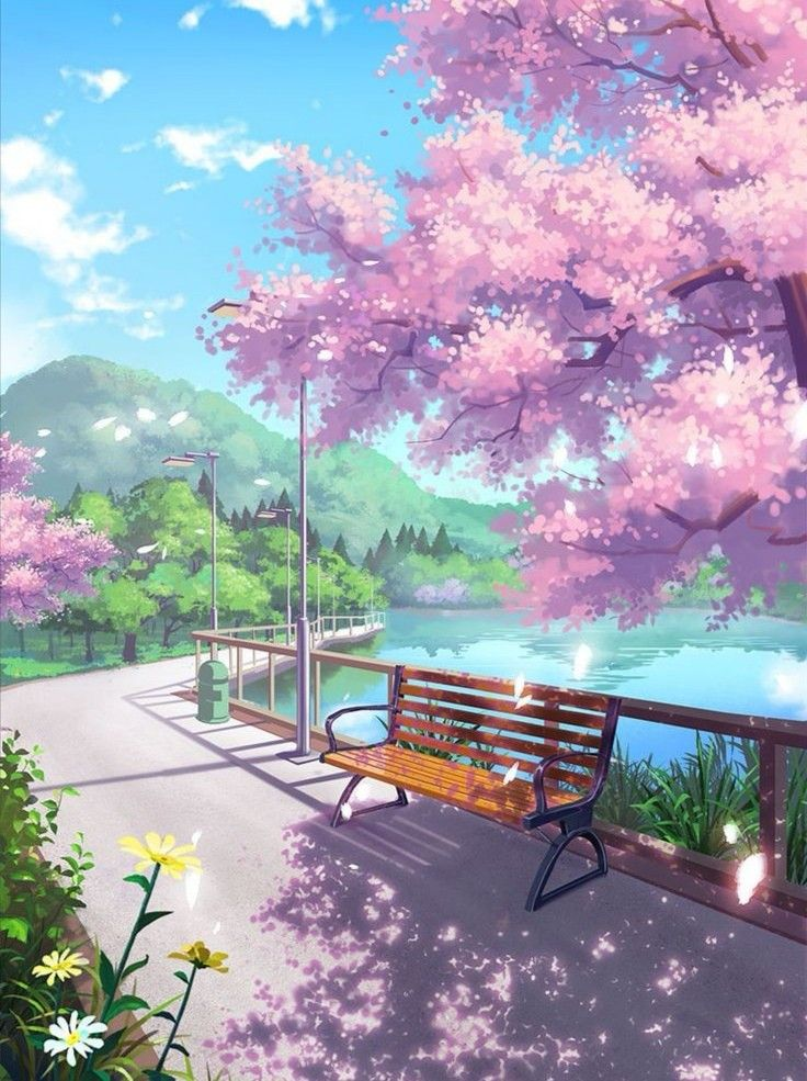 Anime Sky Wallpaper View Beautiful Background Fotografi Alam Latar Belakang Pemandangan Anime