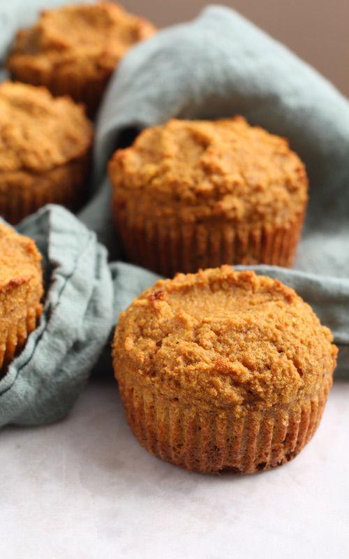 Coconut Flour Pumpkin Muffins  || light and fluffy, 10 min prep