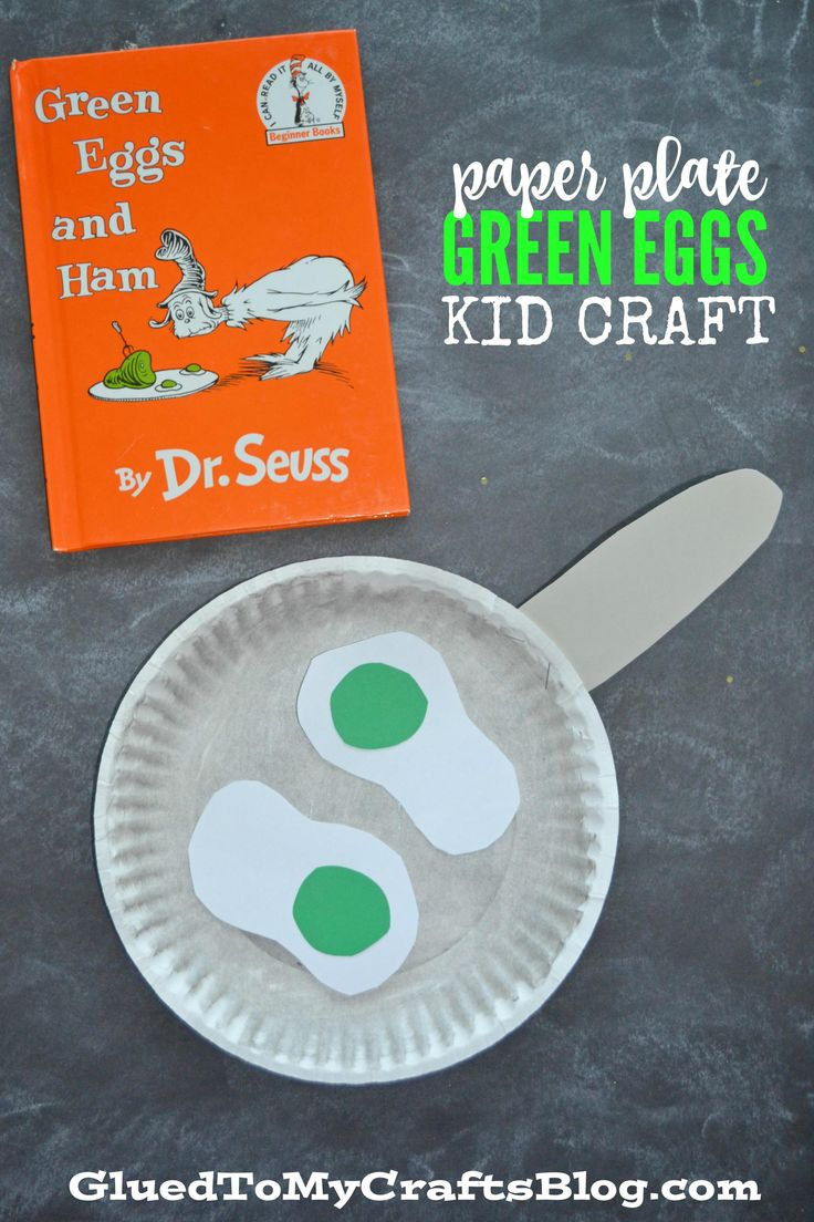 Paper Plate Dr Seuss Green Eggs - Kid Craft - Glued To My Crafts