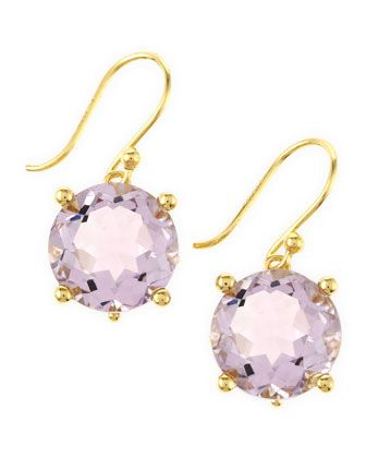 Elizabeth Showers - Rose Amethyst Crystal Earrings: Crystals, Cat, Amethysts, Crystal Earrings, Roses, Amethyst Crystal, Elizabeth Showers