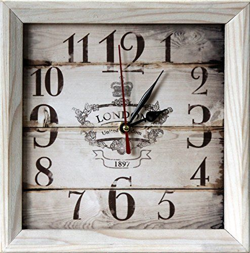 """FIRST VINTAGE 8x8"""" Design Rustic Style Natural Wooden Decorative Wall Clock and Table clock  #Clock #Decorative #Design #FIRST #Natural #Rustic #RusticWallClock #Style #Table #Vintage #Wall #Wooden The Rustic Clock"""
