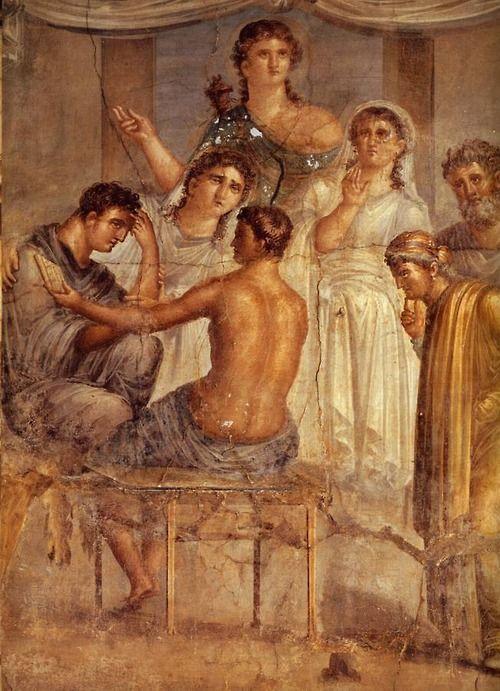 Etruscan frescoe. Pompeii