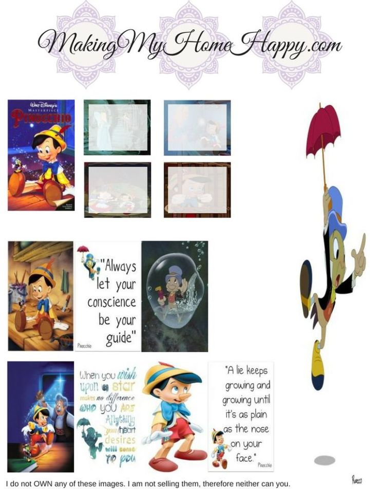Pinocchio was one of the very first Disney movies I remember seeing as a kid. It's one of those movies that kind of sticks with you because it has such a heavy moral compass to it, it's one of those lessons that your parents tried to teach you….but…. you probably didn't catch on until you …