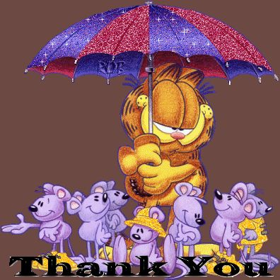Garfield Thank You Quote Gif