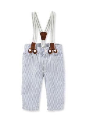 OshKosh Bgosh Multi Suspender Seersucker Pants