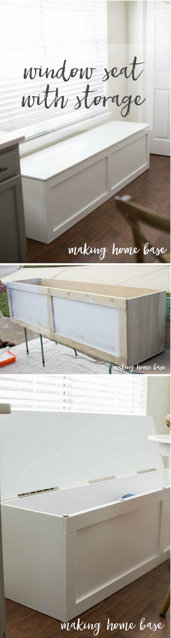 Check out how to build an easy DIY window seat with storage @istandarddesign