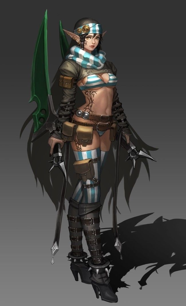 ArtStation - dark elf theif, kim seung hwan