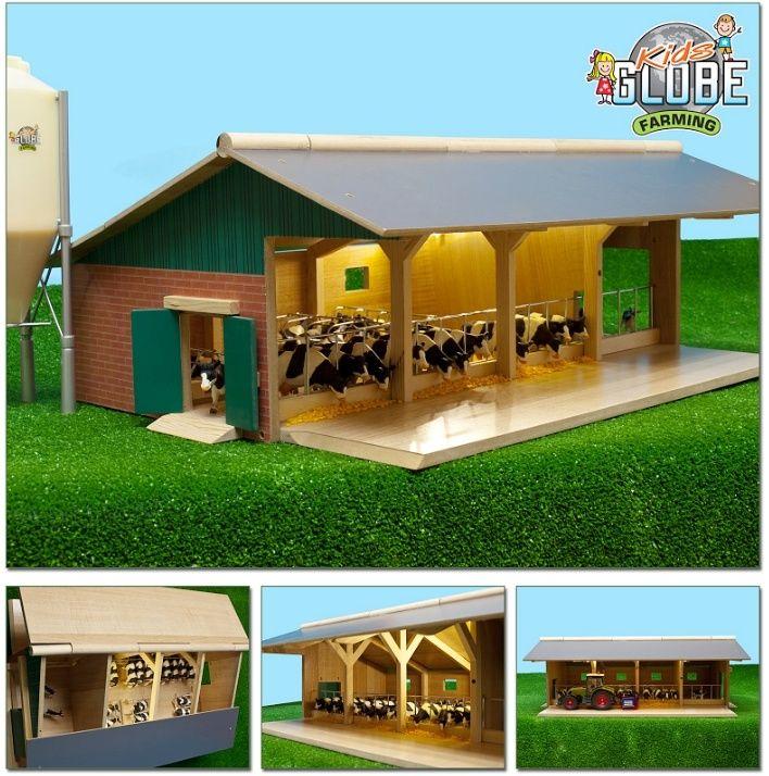 Wooden Model Toy Farm Amp Stable Buildings Kids Globe 1 32