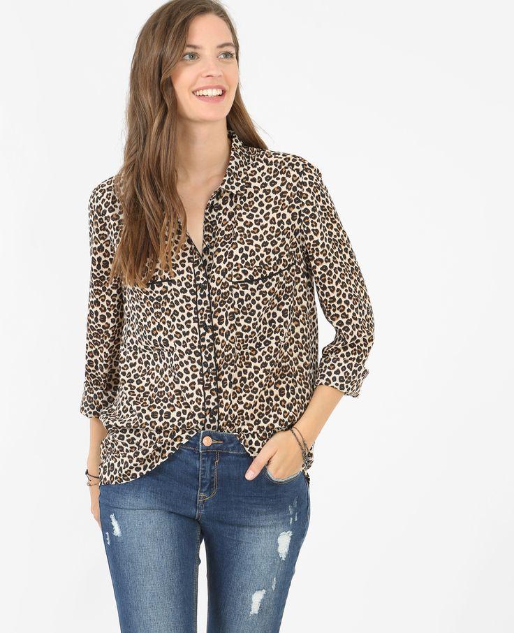 Camicia morbida leopardata