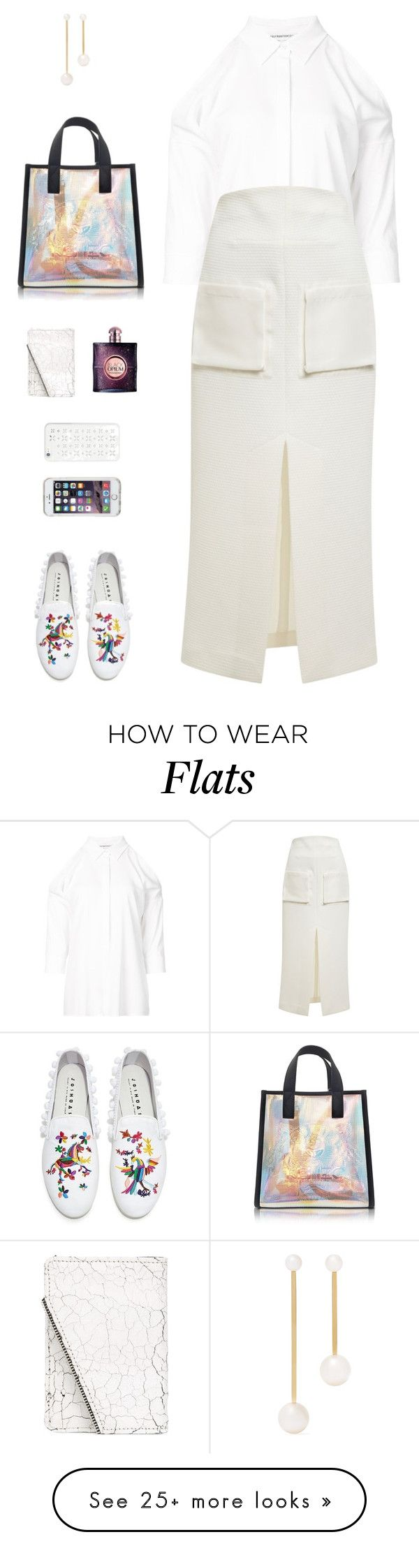 """""""Joshua Sanders Rainbow Embroidery Pom Pom Flats"""" by sol4ange on Polyvore featuring Speck, Joshua's, Kenzo, KaufmanFranco, E L L E R Y, Sophie Bille Brahe, South Lane, Yves Saint Laurent and MICHAEL Michael Kors"""