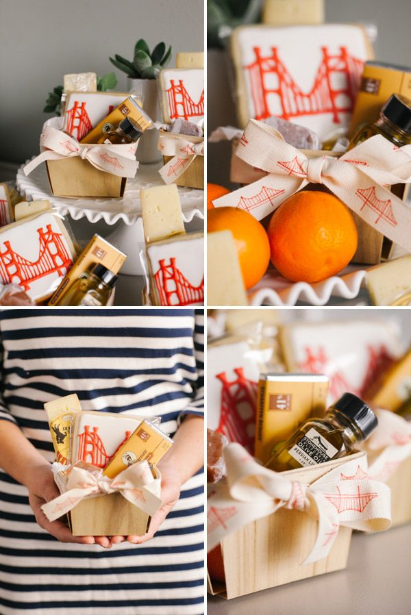 Going Away Party Favor Baskets: Fill with local products from the city they are leaving or the city they are moving to!