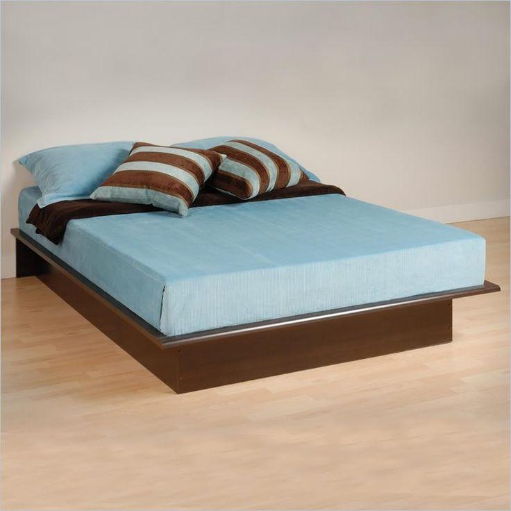 26494 manhattan double full size platform bed in espresso finish - Wood Platform Bed Frame Full
