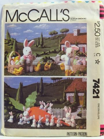 McCall's 7421 Easter Craft Package - - Smiths Depot Sewing Pattern Superstore