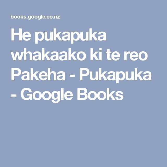 He pukapuka whakaako ki te reo Pakeha - Pukapuka - Google Books