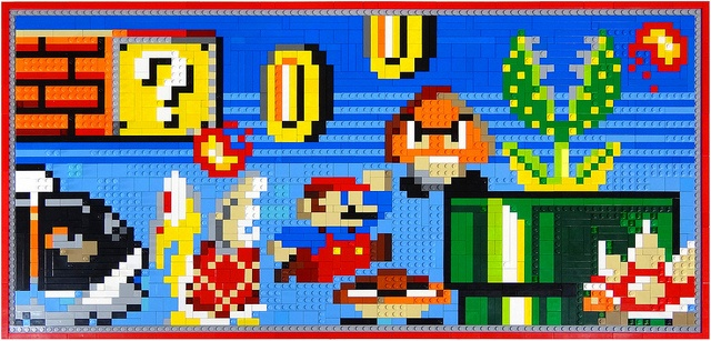 Nintendo World LEGO Mosaic / Wii U Model Platform #LEGO #mosaic #Nintendo #Mario