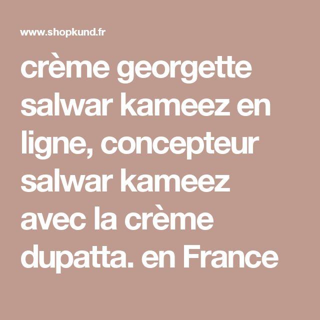 crème georgette salwar kameez en ligne, concepteur salwar kameez avec la crème dupatta. en France