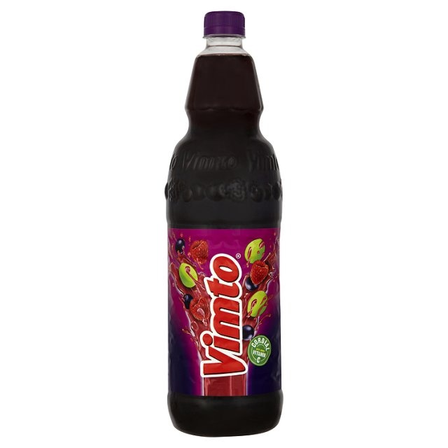 Vimto Squash made in my hometown - Manchester - lived on this stuff growing up - such a unique flavour. Really good hot!