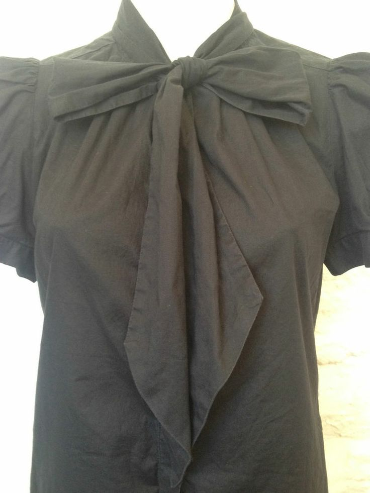 Ladies French Connection Black Bow Shirt - Size 12 - Now Selling! Click through to go to eBay auction.