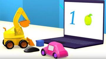 Мультики про машинки. Экскаватор Аха, машинка Олу и Пикап играют в компьютерные игры для детей http://video-kid.com/10206-multiki-pro-mashinki-ekskavator-aha-mashinka-olu-i-pikap-igrayut-v-kompyuternye-igry-dlja-dete.html  Развивающий мультфильм для малышей: Учись, Аха. Машинки играют в компьютерные игры для детей и учатся считать от 1 до 5Желтый экскаватор Аха играл в кубике на столе. И случайно задел мышку рядом с ноутбуком. Маленький экскаватор очень испугался, когда зажегся экран…