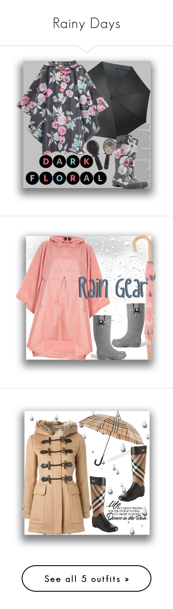 """""""Rainy Days"""" by tailormadelady ❤ liked on Polyvore featuring Boots, raincoat, styleicon, trendsetters, ASOS, Kenzo, Joules, Hunter, Hatley and maurices"""