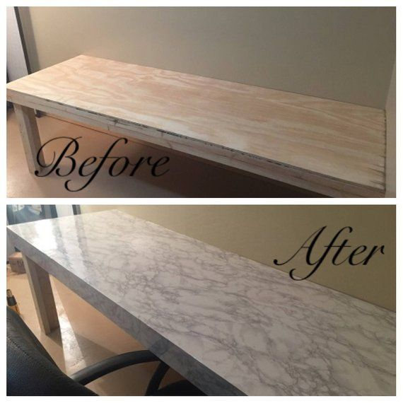 Instant Peel And Stick Countertop White Faux Marble Granite Not