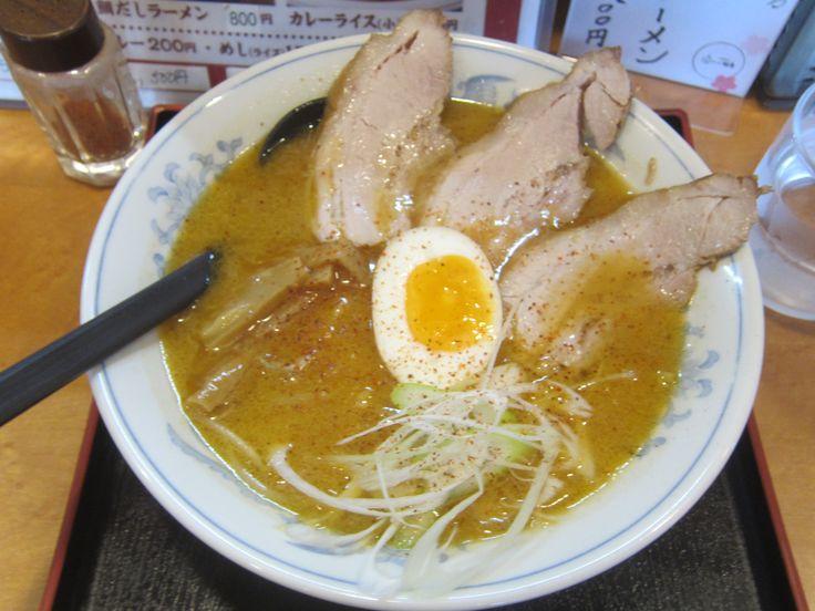 #Ramen #Miso_ramen #Miso_flavor #Noodles #Lunch #SAKURAJIMA #Sapporo #Japan #ラーメン #味噌ラーメン #鹿児島ラーメン屋さんの札幌味噌ラーメン #札幌 #櫻島月寒東店 #된장맛 #라면