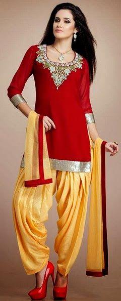 Patiala Salwar Kurta Latest Punjabi Patiala Suits 2014